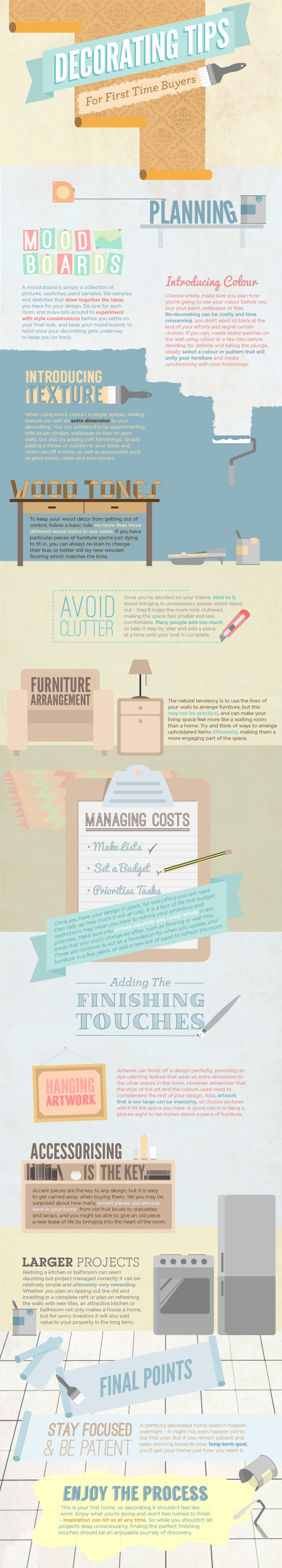 Decorating Tips For First Time Buyers Infographic