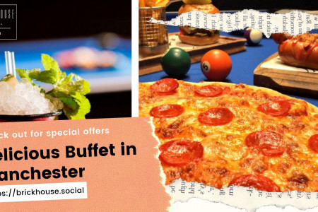Delicious Buffet in Manchester with Live Music Infographic
