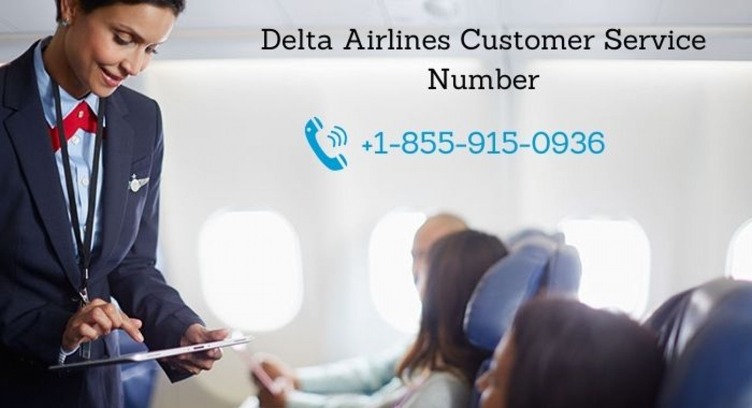 Delta Airlines Customer Service Number Infographic