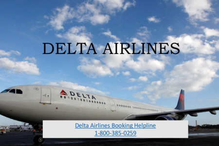 Delta Airlines Phone Number - 1-800-385-0259 Infographic
