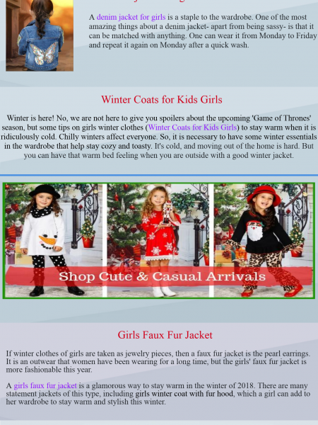 Denim Jackets for Girls | Girls Denim Jacket Infographic