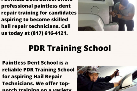 Dent removal training courses Infographic