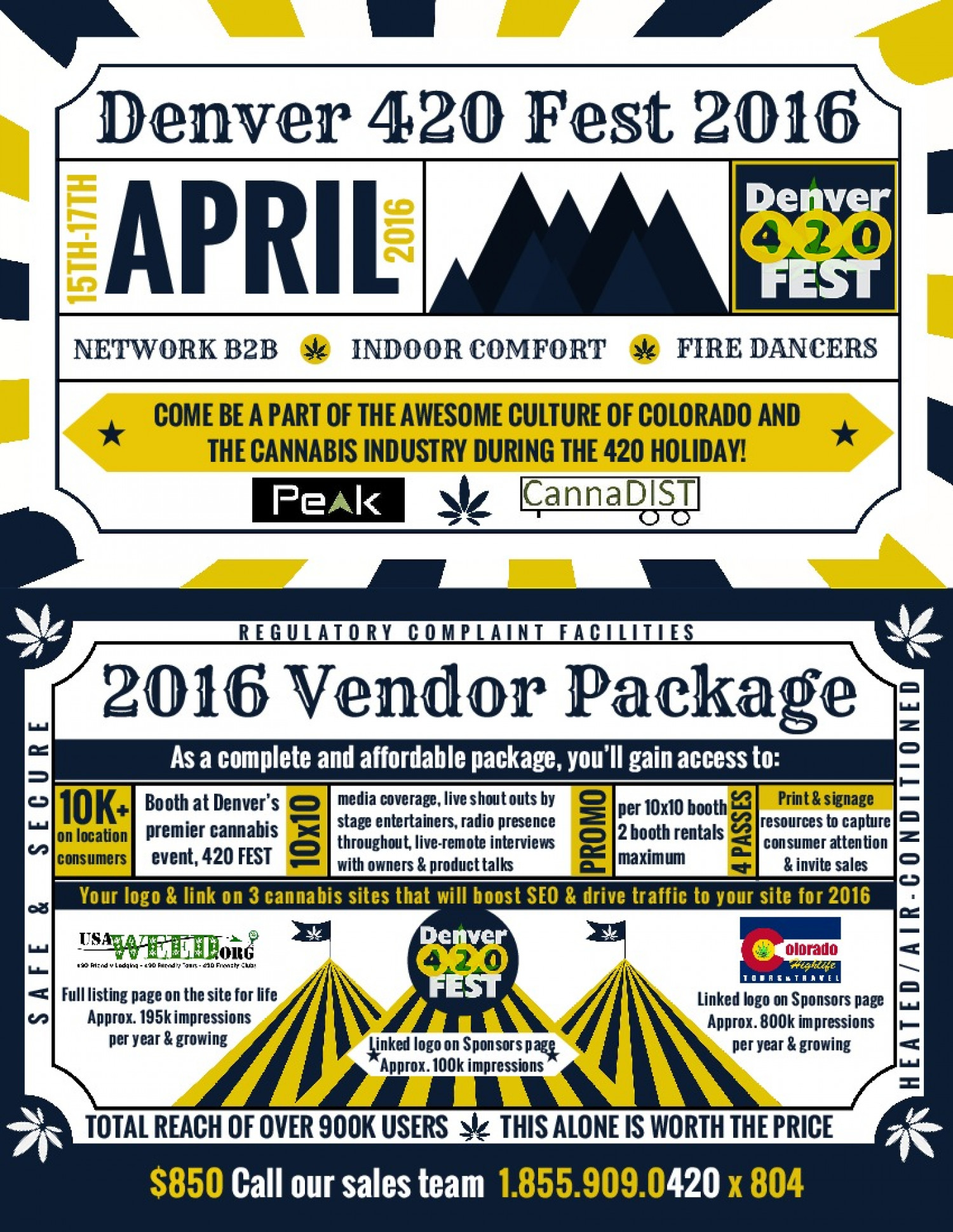 Denver 420FEST Vendor Infographic