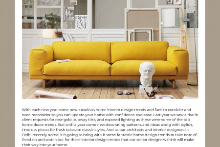 Design Trends To Bring More Uniqueness in Your Home Infographic