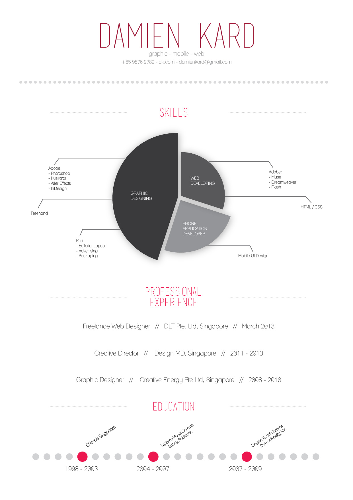 designer's simple infographic resume | visual.ly