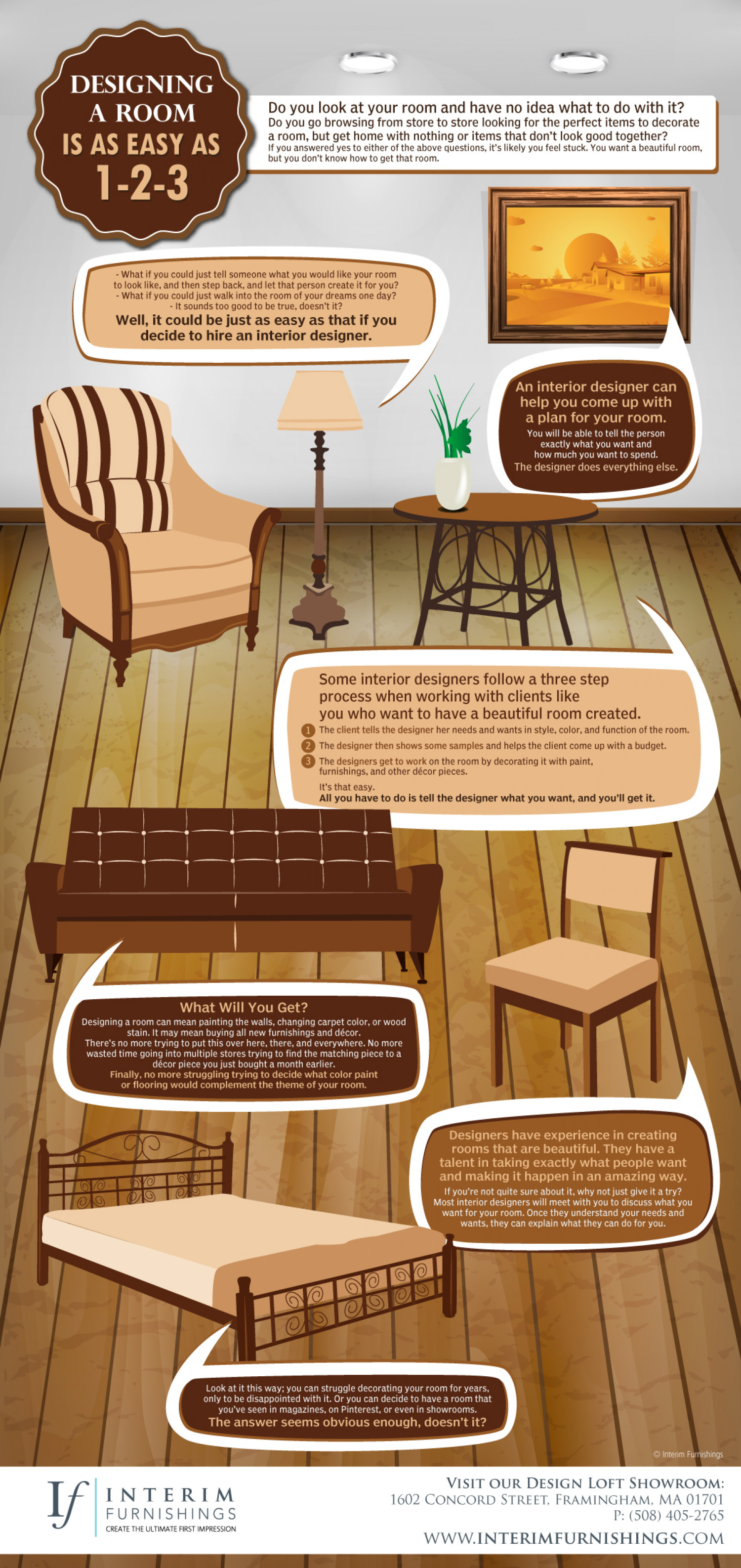Designing a Room Is as Easy as 1-2-3 Infographic & Designing a Room Is as Easy as 1-2-3 | Visual.ly