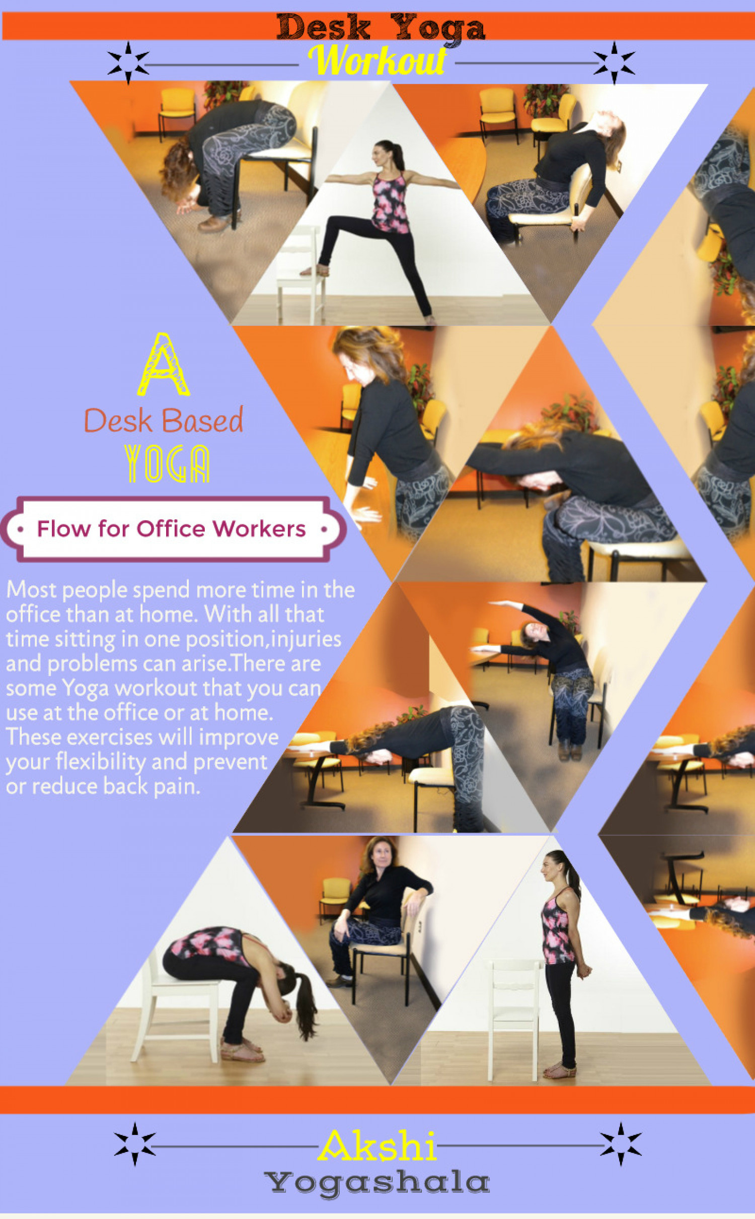 Desk Yoga Workout Infographic