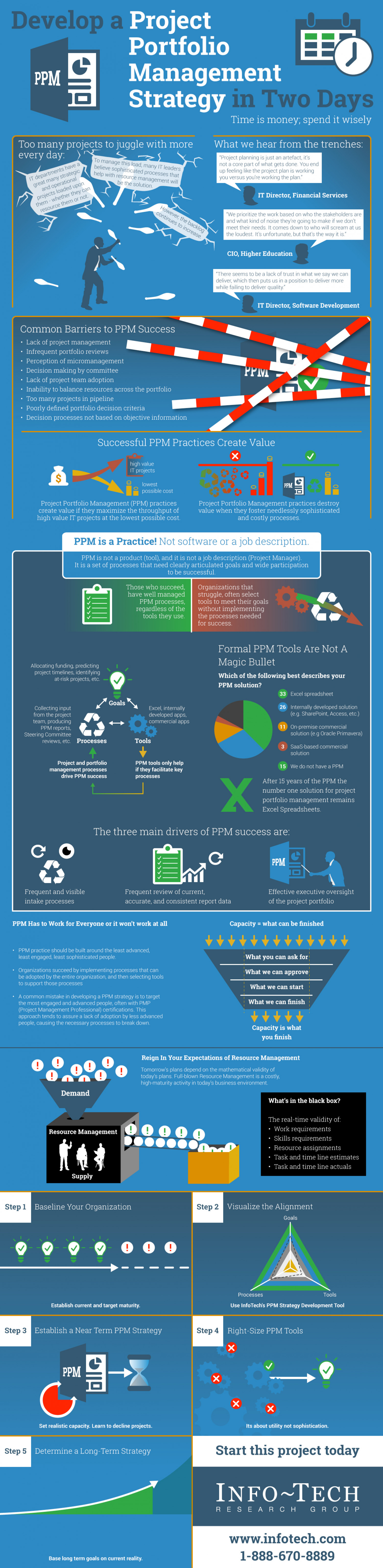 Develop a Project Portfolio Management Strategy in Two Days Infographic
