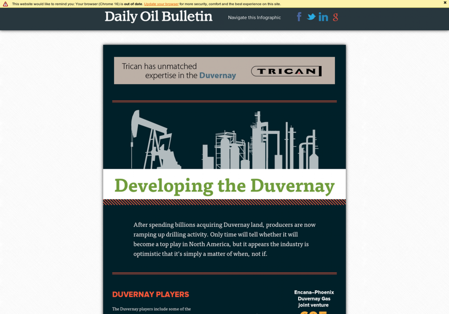 Developing the Duvernay Infographic