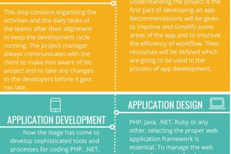 Development Lifecycle of an App. Infographic