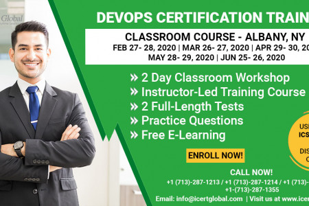 DevOps Certification Training Classroom Course in Albany, NY Infographic