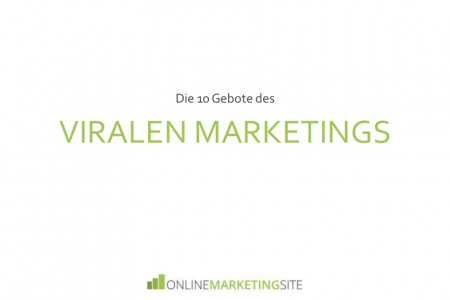 Die 10 Gebote des viralen Marketing Infographic