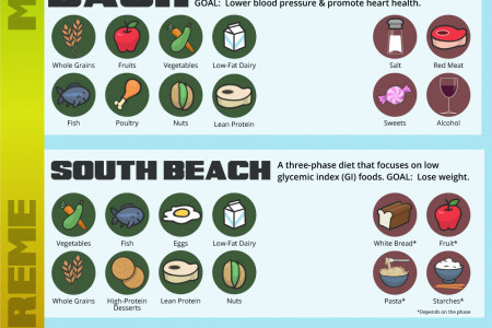 Dieting Comparisons Infographic