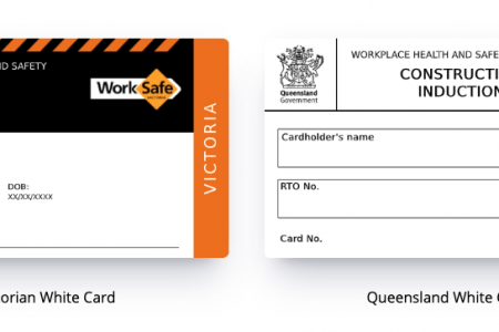 Difference between a Victorian and Queensland White Card Infographic