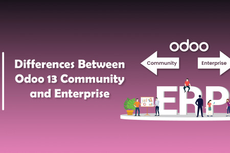 Differences Between Odoo 13 Community and Enterprise | CandidRoot Solutions  Infographic