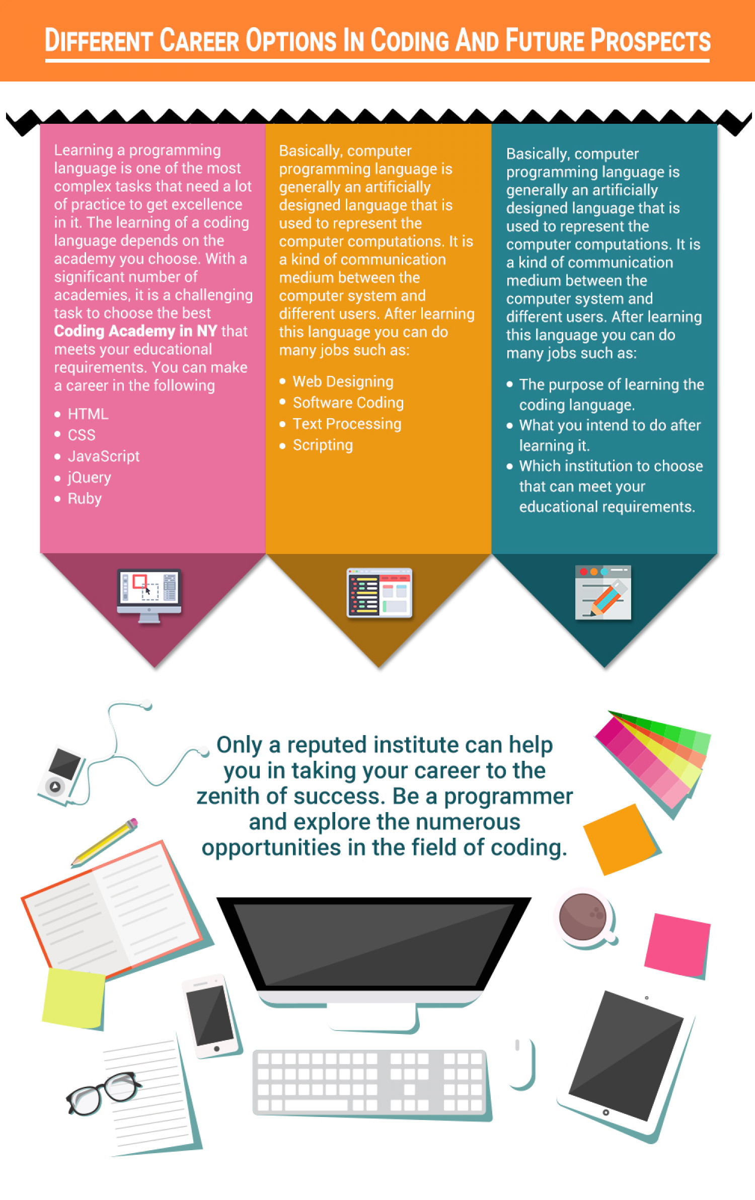 Different Career Options In Coding And Future Prospects Infographic