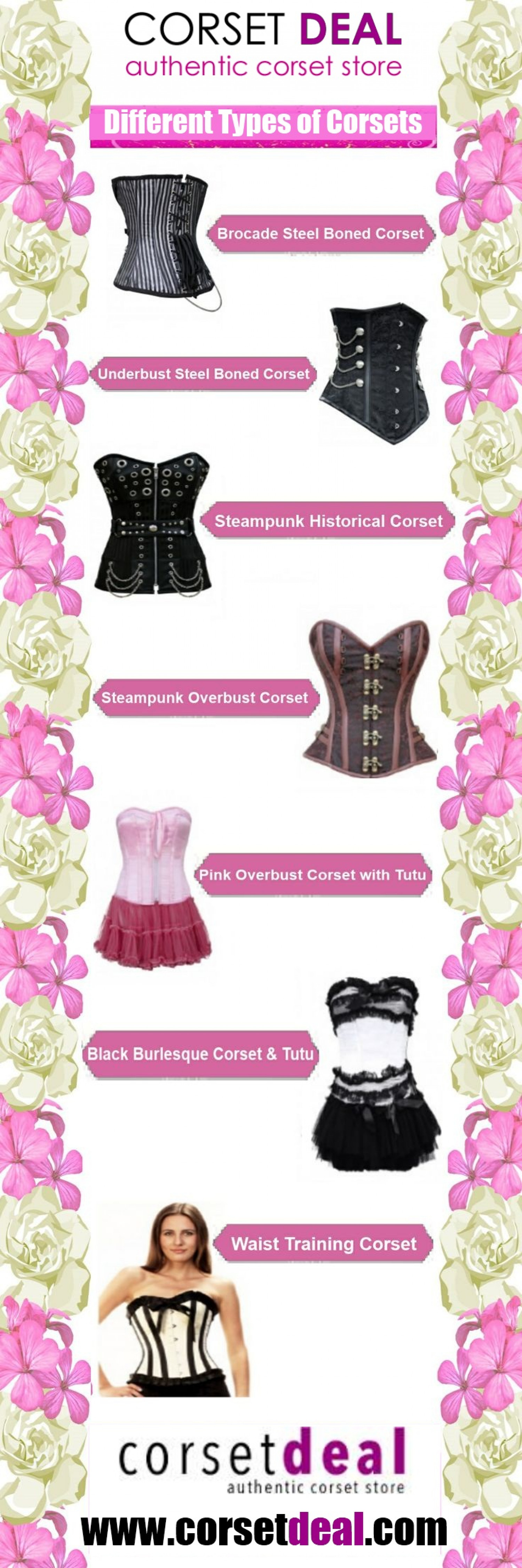 5343991c25 Different Types of Corsets Infographic