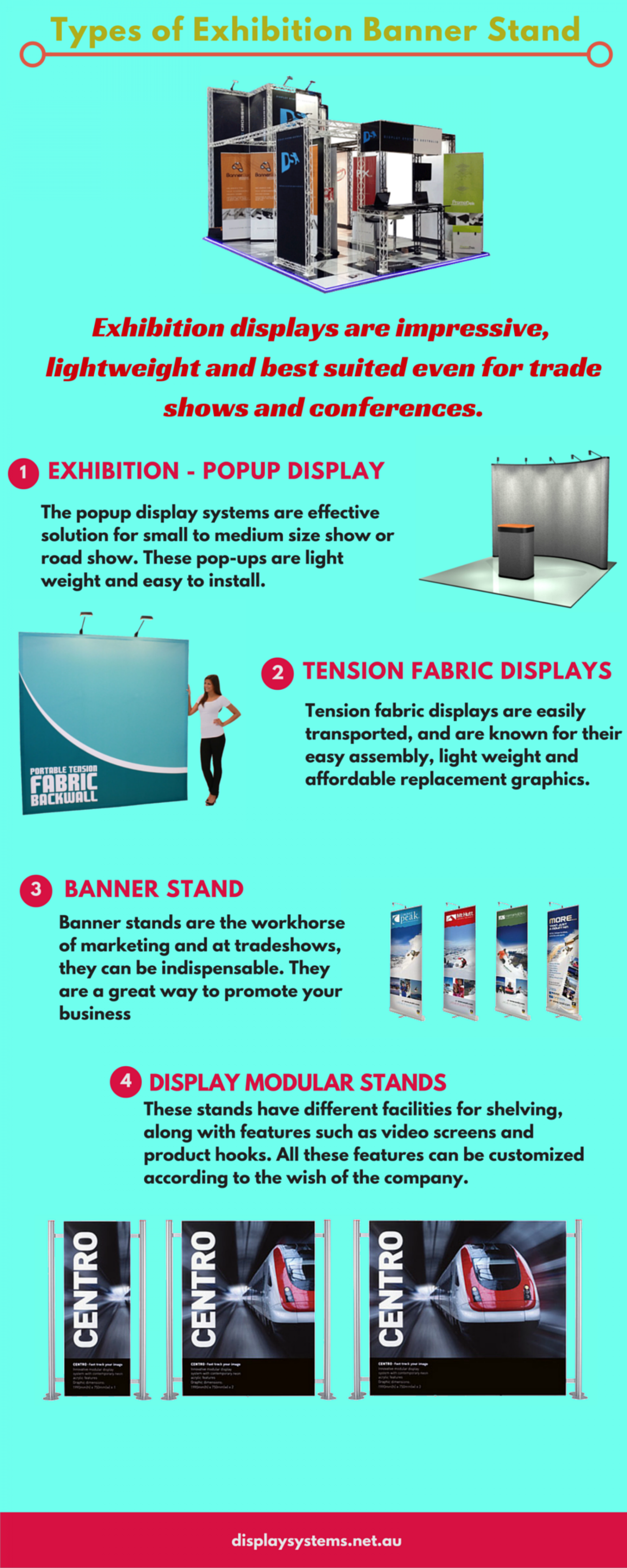 different types of exhibition banner stand visual ly