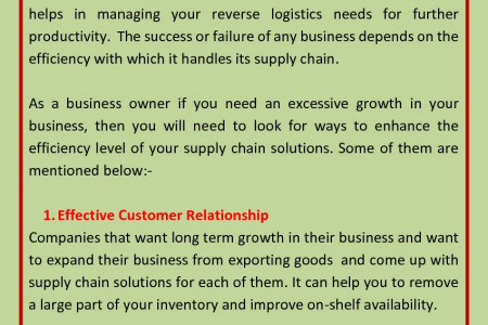 Different Ways To Improve Efficiency of Supply Chain Solutions Infographic