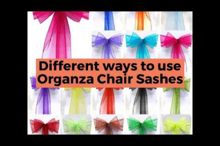 Different ways to use Organza Chair Sashes Infographic