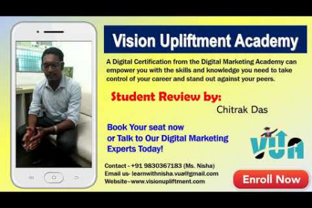 Digital Marketing Course Review by Chitrak || Course For Beginners || Vision Upliftment Academy Infographic