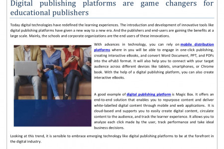 Digital publishing platforms are game changers for educational publishers Infographic