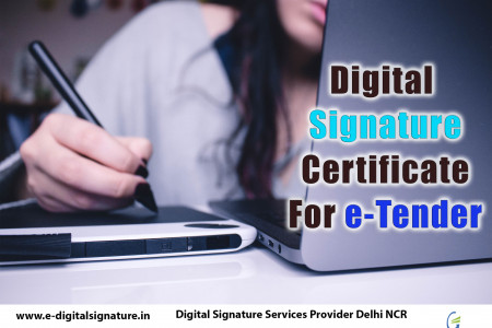 Digital Signature Certificate  For e-Tender Infographic