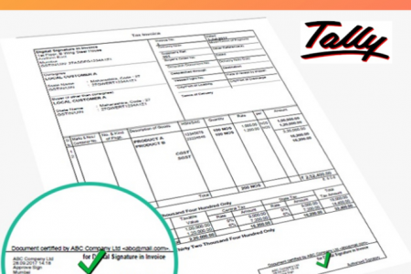 Digital Signature from Tally Infographic