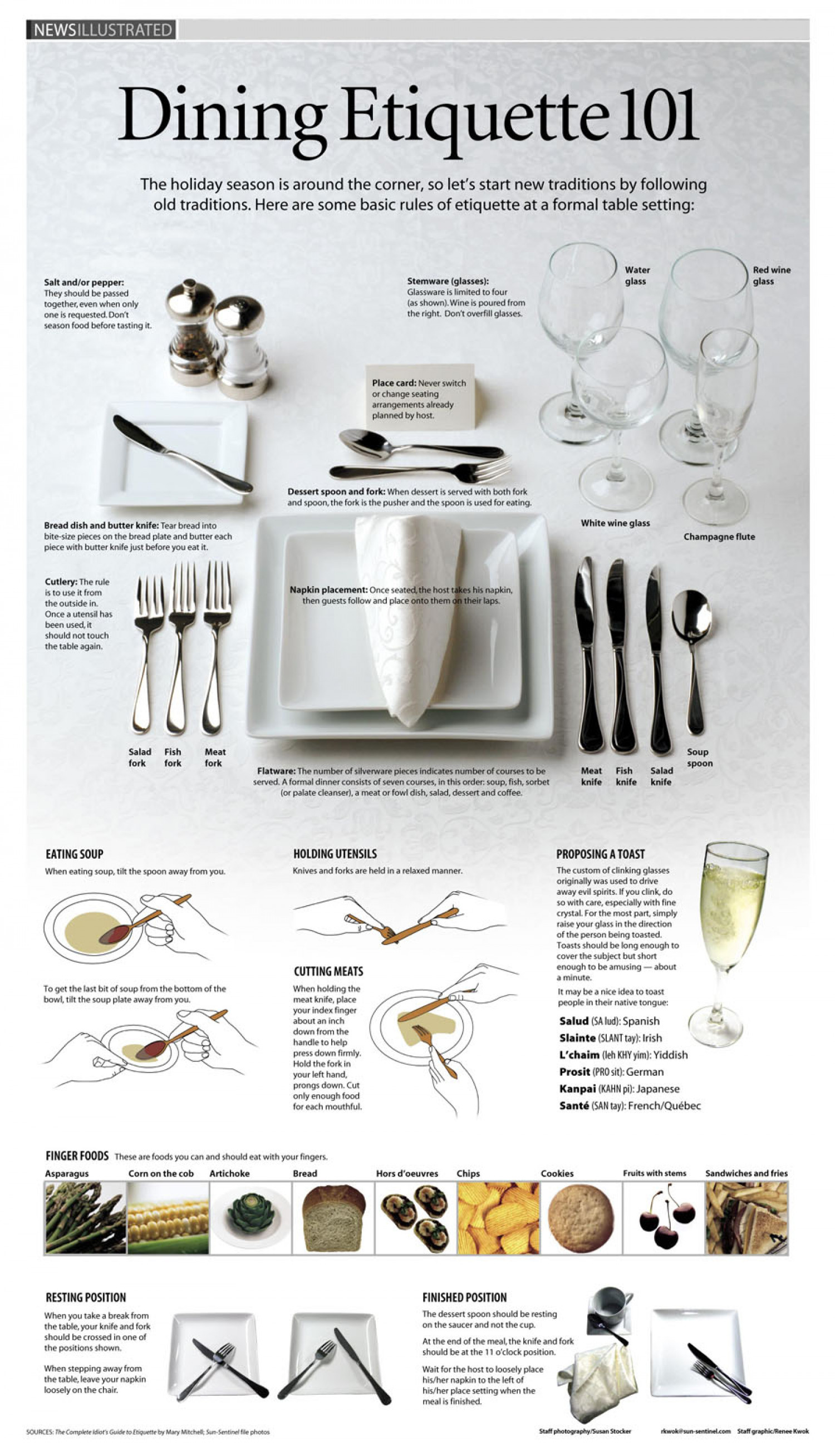 Dining Etiquette 101 Infographic  sc 1 st  Visually : formal table setting pictures - pezcame.com
