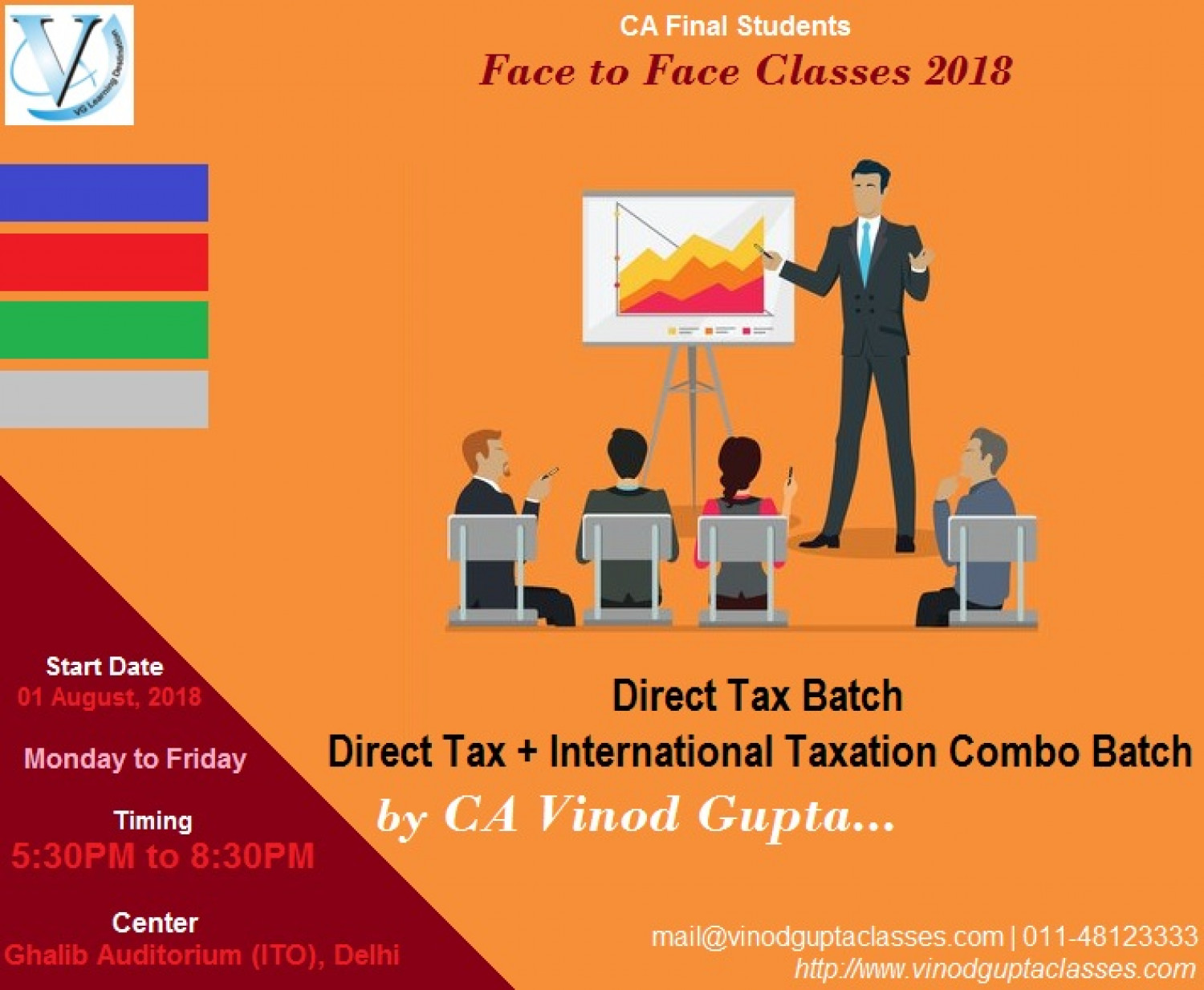 Direct Tax and International Taxation Batch 2018 Infographic