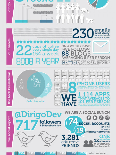 Dirigo Design & Development By The Numbers Infographic