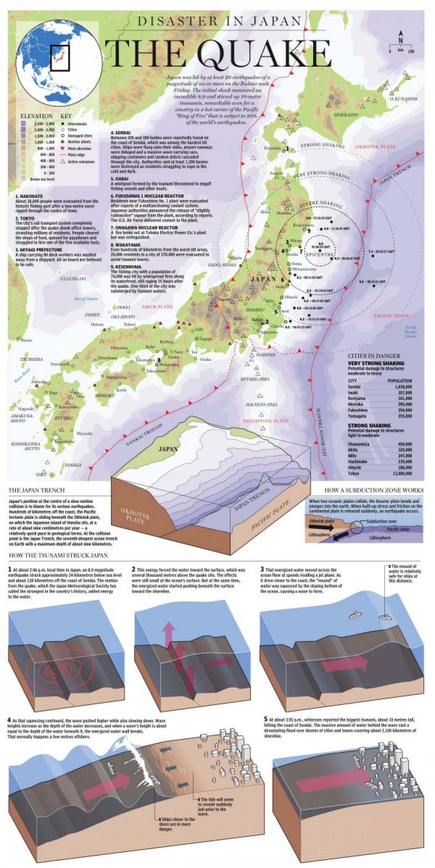 Disaster in Japan Infographic