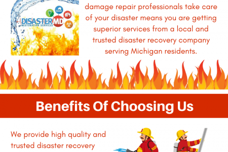 Disaster MD | Fire Damage Restoration in Novi Infographic