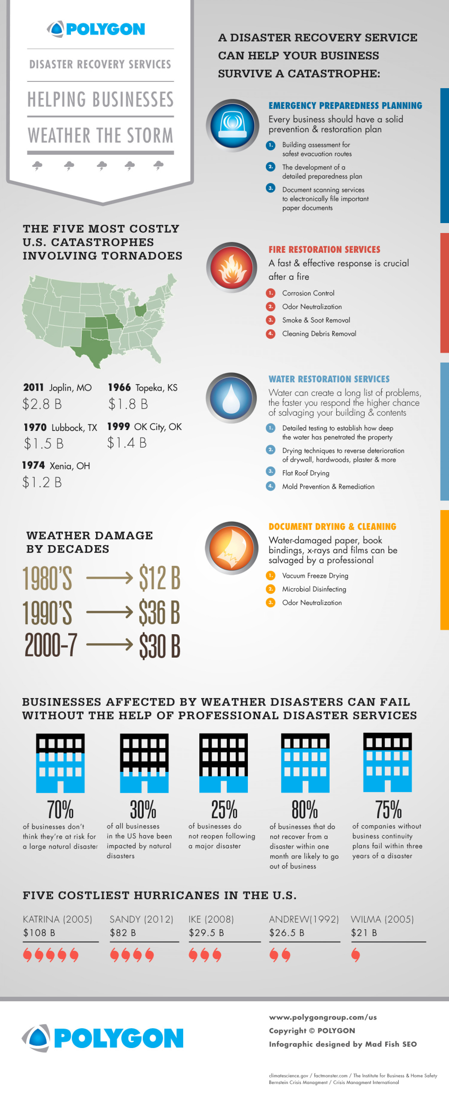 Disaster Recovery Services to Weather the Storm Infographic