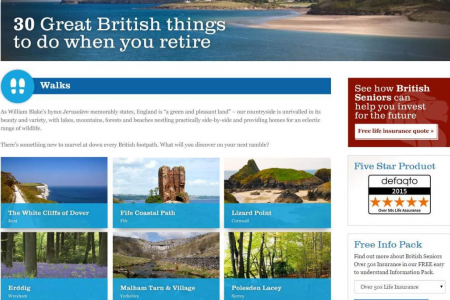Discover 30 great things to do in the UK if you are retired Infographic
