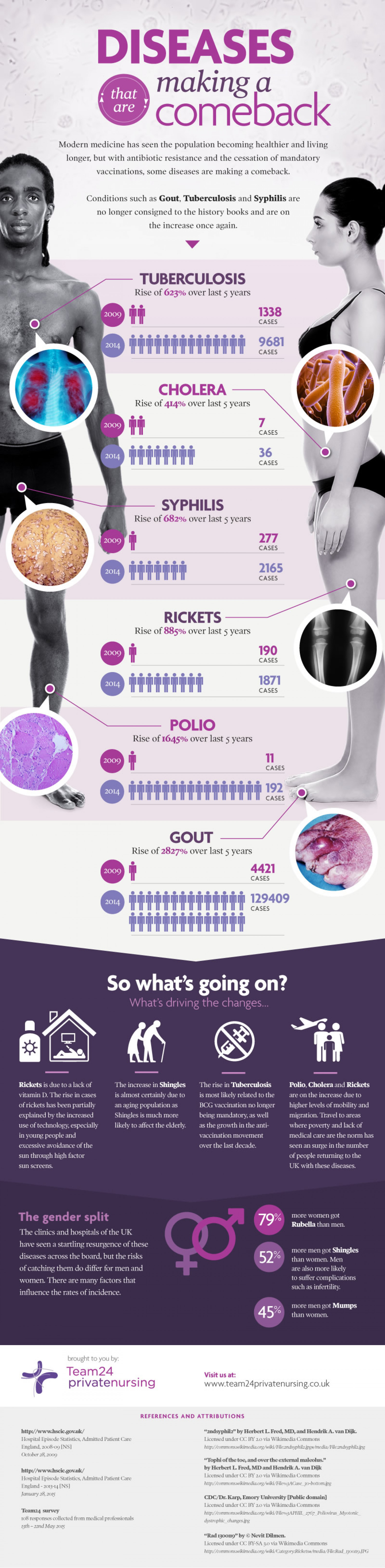 Diseases that are making a comeback Infographic