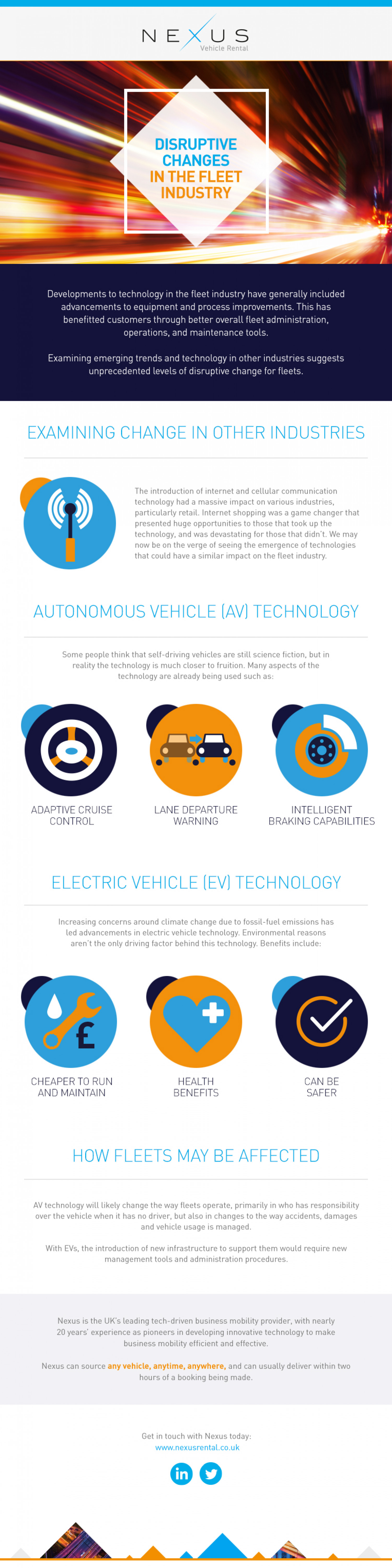 Disruptive Changes in the Fleet Industry Infographic