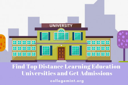 Distance Education Courses: Find List of Top Universities | Collegemint Infographic