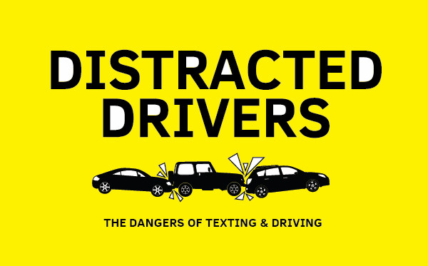 Distracted Drivers The Dangers Of Texting  Driving  Visually