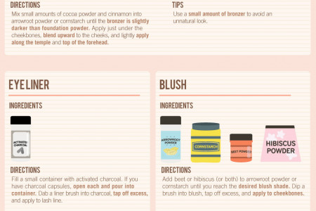 Ditch the Chemicals: Create Your Own Makeup Infographic