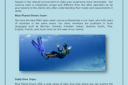 Dive Into The Blue World of Water – Learn Scuba Diving!  Infographic