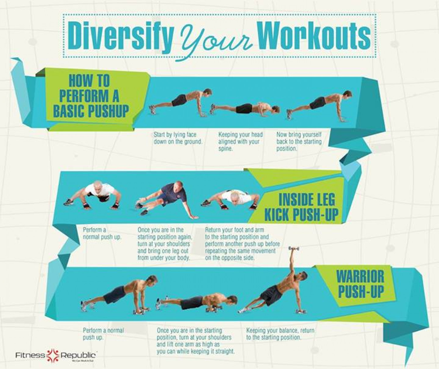 Diversify Your Workouts Infographic