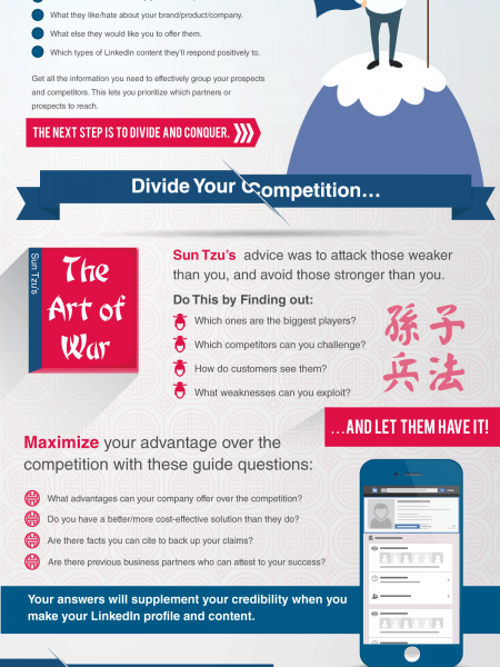 Divide and Conquer: The Other Secret to Making Your LinkedIn Presence Matter Infographic