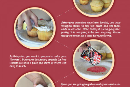 DIY - Simple Red White and Blue Cupcake Infographic