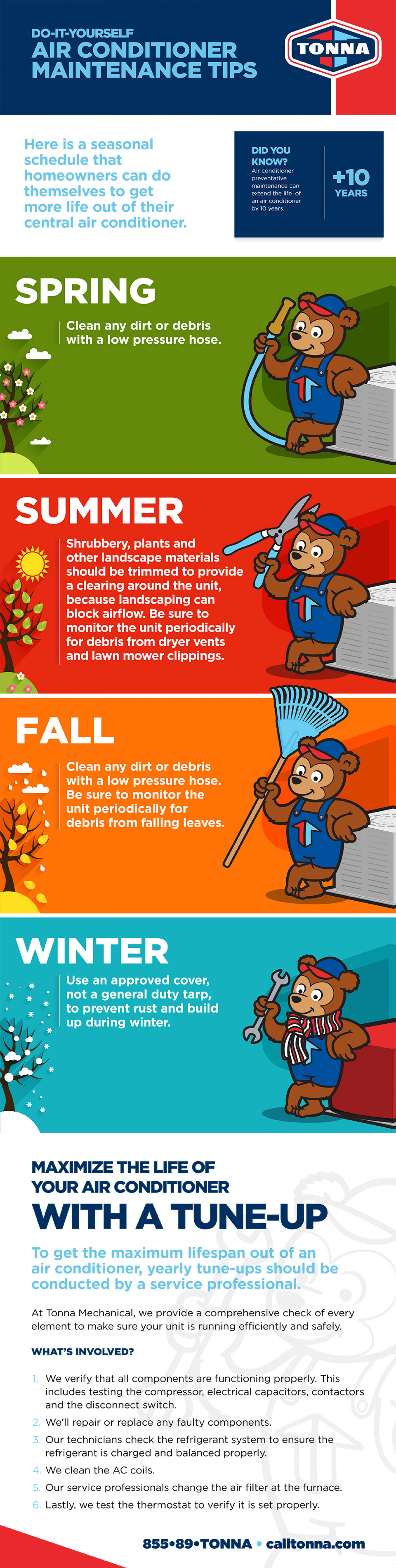 DIY Air Conditioner Maintenance Tips for All Seasons Infographic