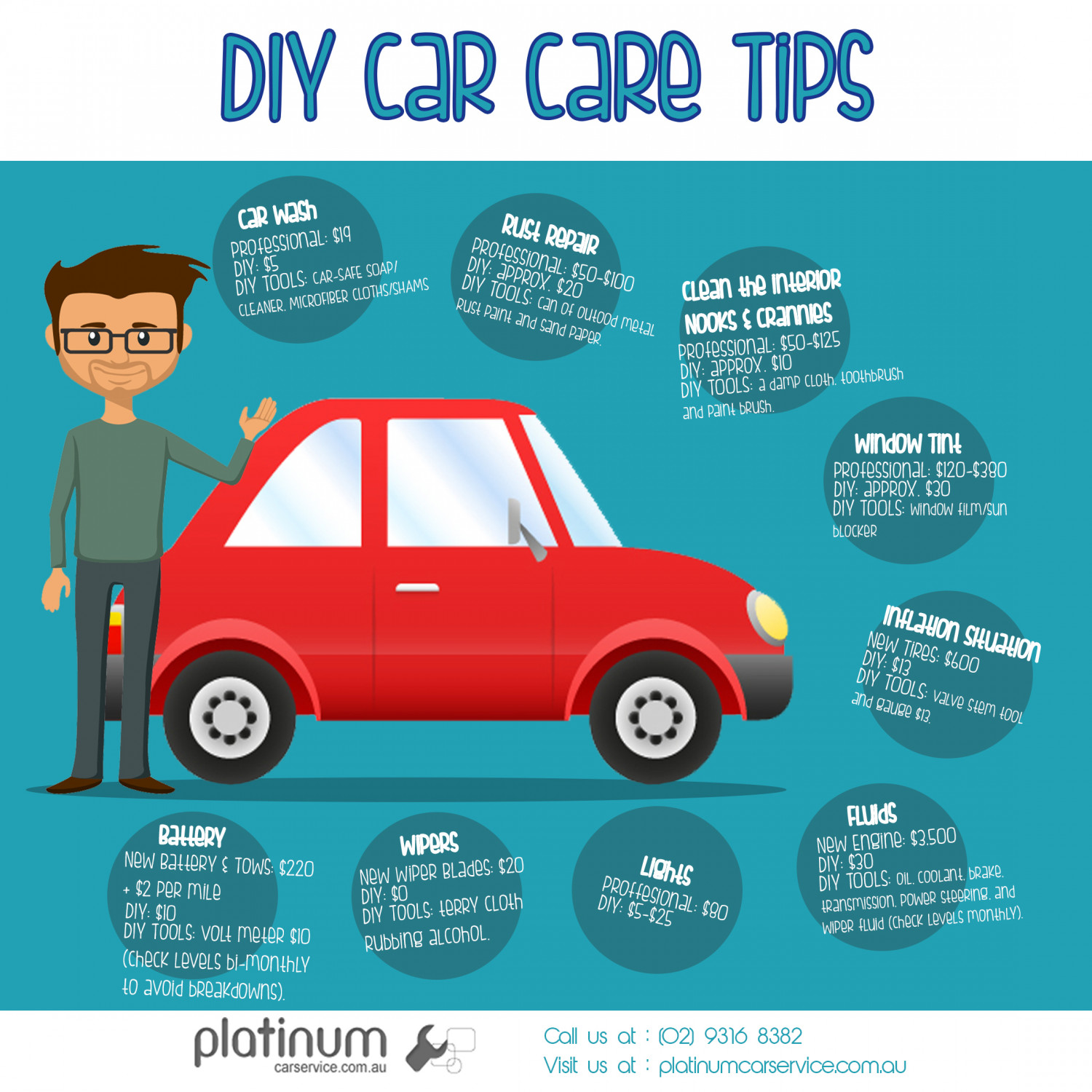 Diy car care tips visual diy car care tips infographic solutioingenieria Choice Image