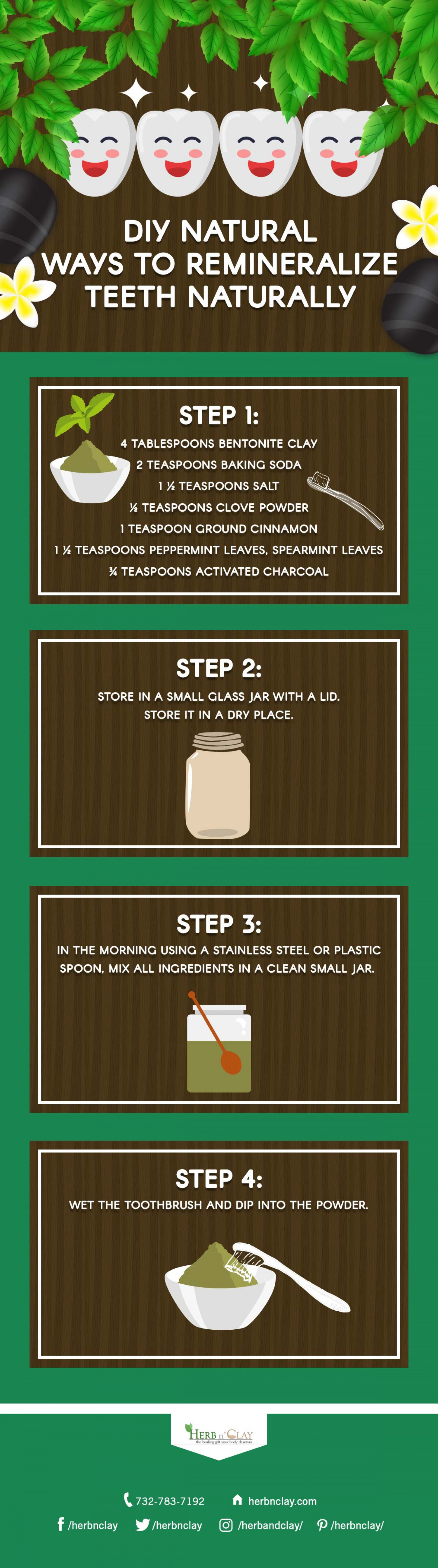 DIY Natural Ways to Remineralize Teeth Infographic