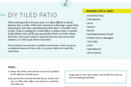 DIY Projects For Your Outdoor Summer Patio Infographic