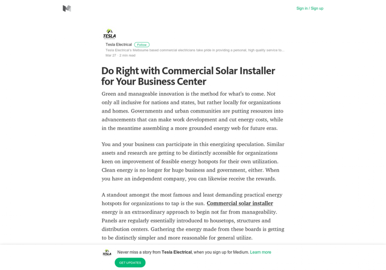 Do Right with Commercial Solar Installer for Your Business Center Infographic