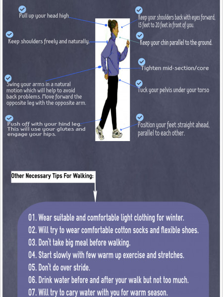 Do You Know How To Walk In a Proper Way For Effective Exercising? Infographic